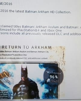 Batman: Arkham Asylum And Arkham City HD Collection Resurfaces