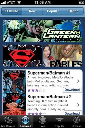 DC Comics Launch iPad And iPhone App