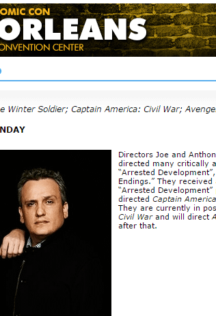 The Russo Brothers Come To Wizard World New Orleans &#8211 Will They Have Civil War To Show