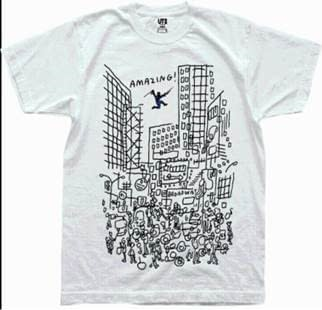 Jason Polan And James Jarvis'Exclusive Uniqlo Shirts For New York Comic Con 2017