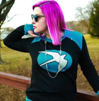 Geek Chic: ThinkGeeks Faith Sweater is Perfect for the Heroes in Your Life