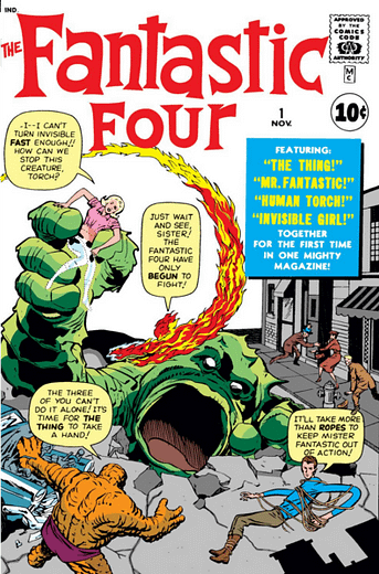 Fantastic Four #1 cover by Jack Kirby