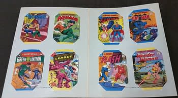 Leaf's DC Super Heroes Collector Album Inside With Comics