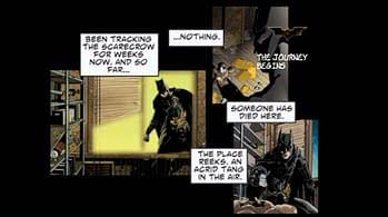 Batman Begins DVD Menu Comic 01 The Dark Knight