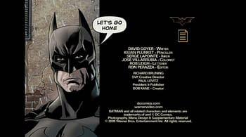 Batman Begins DVD Menu Credits The Dark Knight