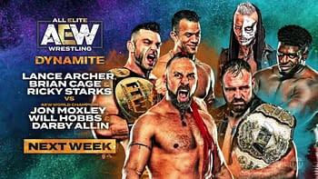 Match card for next week's AEW Dynamite