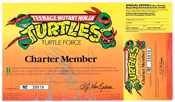 TMNT Club Membership Cards