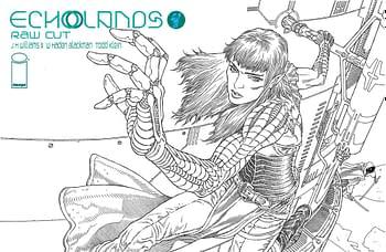 Cover image for ECHOLANDS RAW CUT ED #4 CVR B RODRIGUEZ (MR)