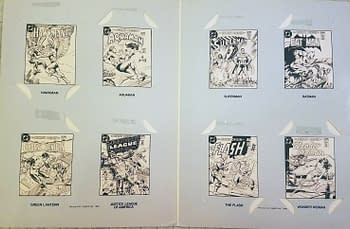 Leaf's DC Super Heroes Collector Album Inside Without Comics