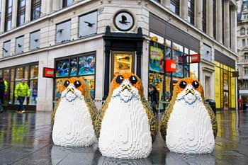 LEGO Porgs Have Descended Upon London as Part of a Giveaway Campaign