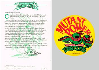 TMNT Club Letter & Sticker