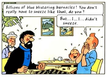 Boris Johnson has been reading Tintin comics in his hospital bed.