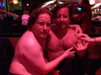 Naked... with Dean Haspiel... in New York City