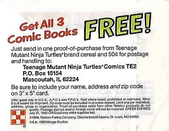 Promotional Offer For All Three Comics