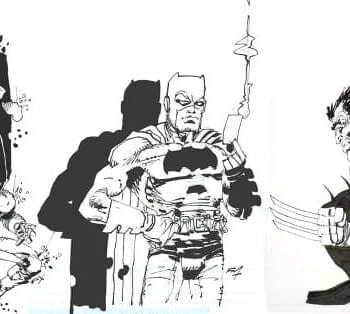 Hunt The Dark Knight Logan And More &#8212 Frank Miller Art From His Own Archives Up For Sale At Big Apple Comic Con