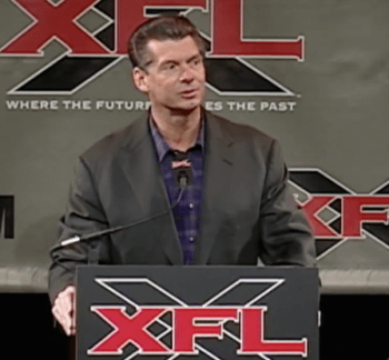 Vince McMahons XFL Is Getting A Hall Of Fame For Some Reason