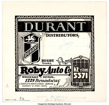 Edgar Church Durant Distributors Decorative Advertising Original Art (Ideal Art Service, c. 1930s).