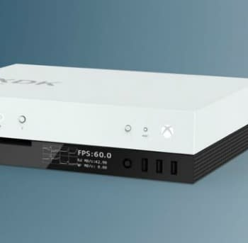 That Xbox Dev Kit Has An FPS Display On The Front