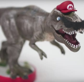 Want A T-Rex Mario Amiibo You Can Make Your Own Right Now