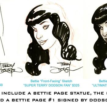 Terry Dodson Adds Original Art to the Bettie Page Statue Kickstarter