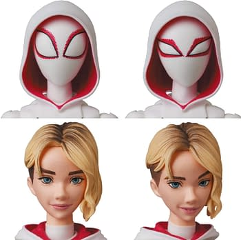 Spider-Gwen and Spider-Ham Swing on in With New MAFEX Figures