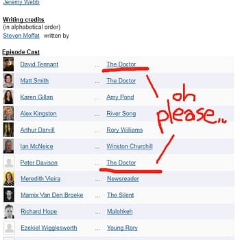 Unlikely Big Spoiler Casting For Doctor Who Finale On IMDB