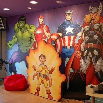 Todd Naucks Avengers Mural For Extreme Makeover Home Editions