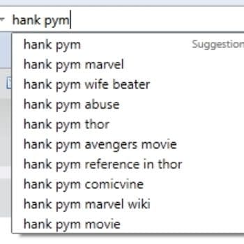 And Finally… Google Suggestions For Hank Pym