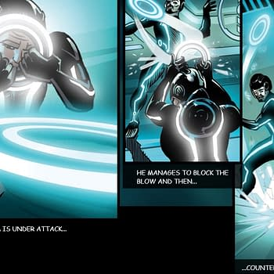 Tron Enhanced Digital Comic Treats Readers Like Simpletons