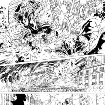 Two Old Pages From Justice League #1