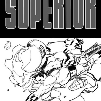Leinil Yus Superior #7 Cover – From Sketch To Inks (UPDATE) To Colour