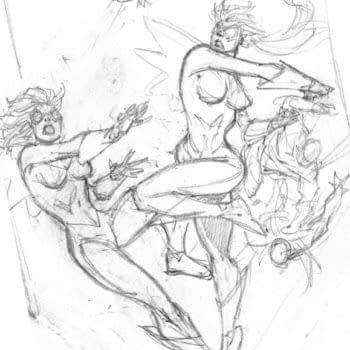 Two Hawk And Dove Cover Sketches By Rob Liefeld