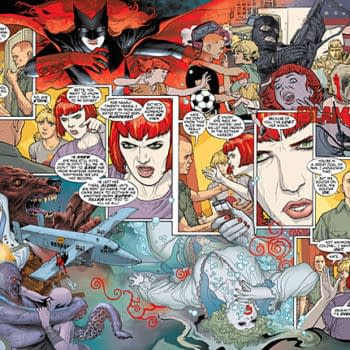 Two Double Page Spreads From Batwoman #1