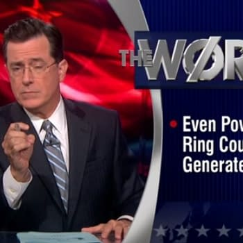 Stephen Colbert Needles Green Lantern Movie In The Word