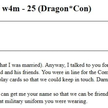What Military Uniform Were You Wearing? – Missed Connections At Dragon*Con