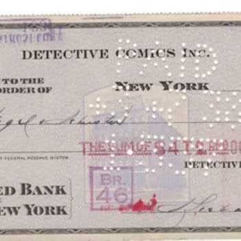 Deal Of The Century: The Check That DC Comics Used To Buy Superman
