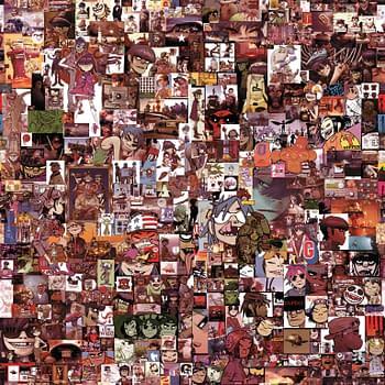 Ten Years Of Gorillaz Singles In One Jamie Hewlett Collage