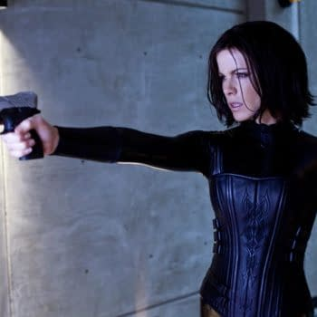 Guns Blazing And Outfit Shining In New Photo Of Kate Beckinsale From Underworld Awakening