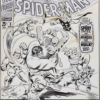 John Romita Spider-Man Cover Watterson Calvin And Hobbes Watercolor Both Sell For Over $100000 At Auction