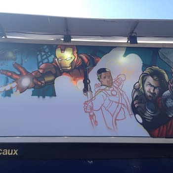 EXCLUSIVE: Sneak Peek At Avengers Promotional Graffiti Artwork Being Created Right Now