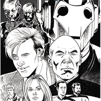 Forbidden Planet Launches Doctor Who/Star Trek Variant Cover Giving Everyone The Sniffles