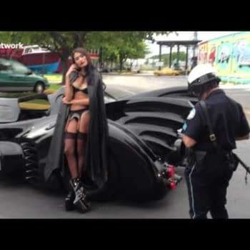 If You Saw A Near Naked Woman Driving The Batmobile… Would You Pull Her Over?