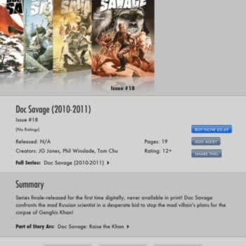 Doc Savage #18 Finally Released. Not That DC Comics Is Telling You About It.