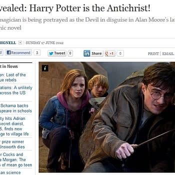 The League Of Extraordinary Gentlemen Harry Potter The Anti-Christ And The Independent On Sunday