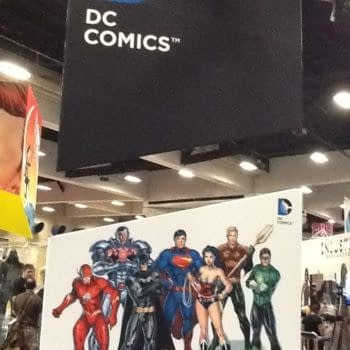 First Look At The DC Comics Booth At San Diego Comic Con 2012