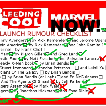 Checking That Marvel NOW! Checklist
