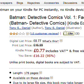 GlitchWatch: New 52 Detective Comics Vol 1 For 77 Pence