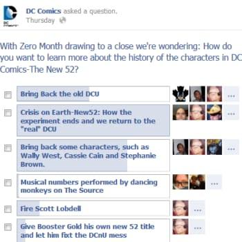 DC's New 52 Facebook Poll Backfires Just A Bit