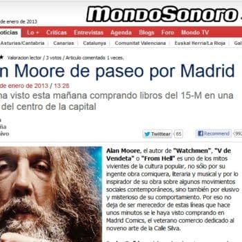 No, Spain, Alan Moore Is Not In Madrid