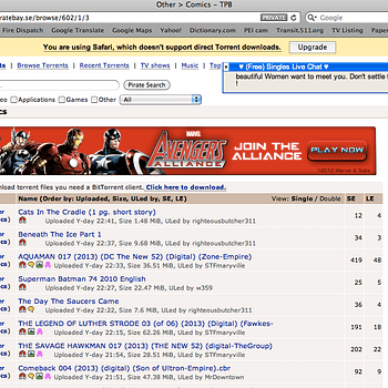 When Marvel Advertises On Pirate Bay